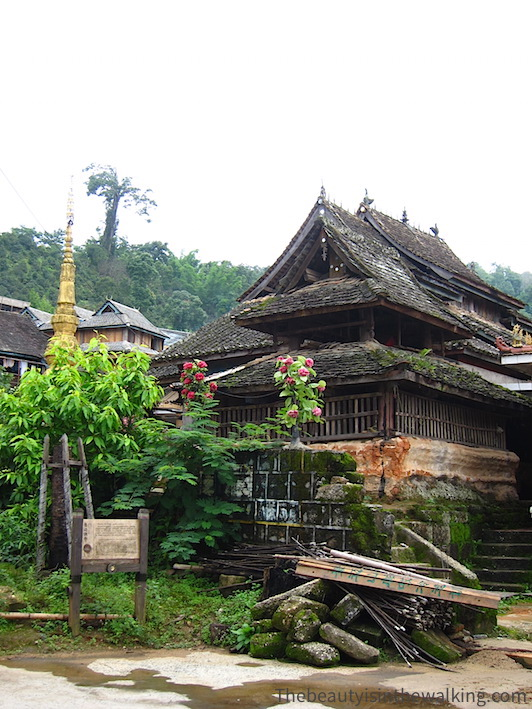 The old temple of Jing Mai Village