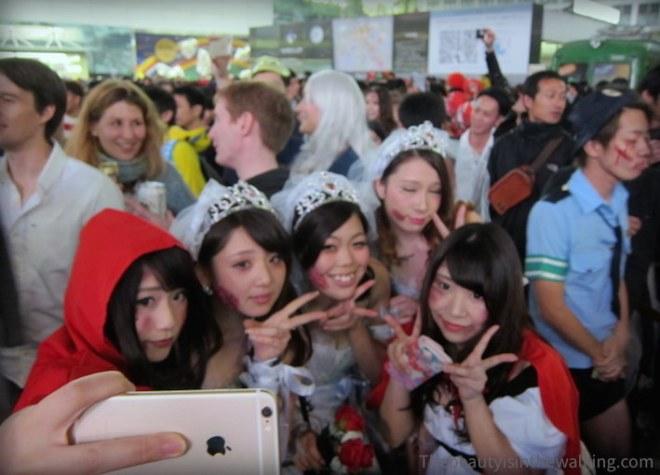 Selfie à Shibuya - Halloween 2015