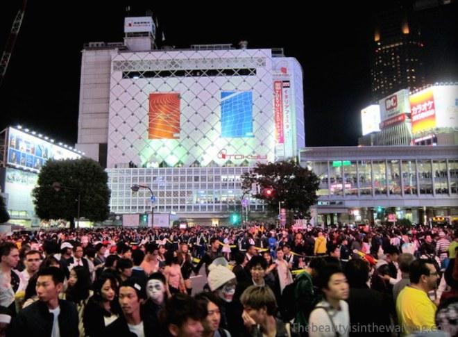Crowd in Shibuya - Halloween 2015