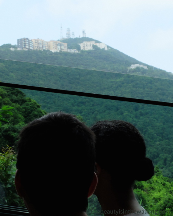 In the cable car to Victoria Peak - Hong Kong