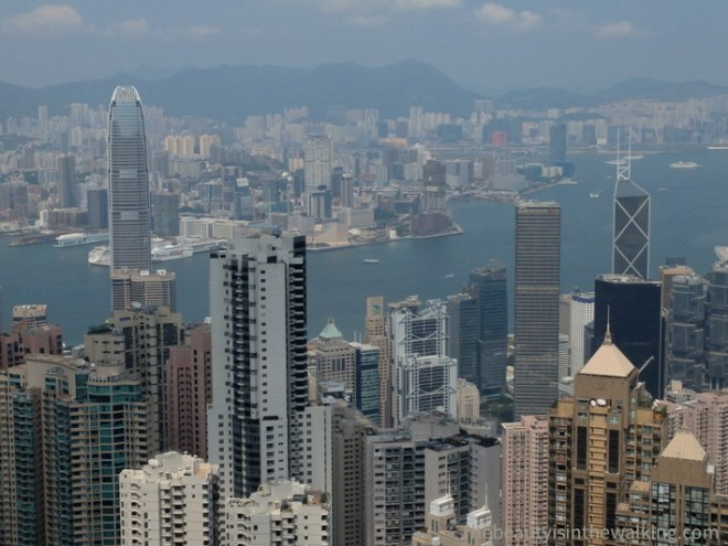 View on Hong Kong skyscrapers