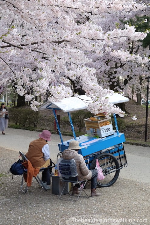 Ice cream sellers at Hirosaki Castle