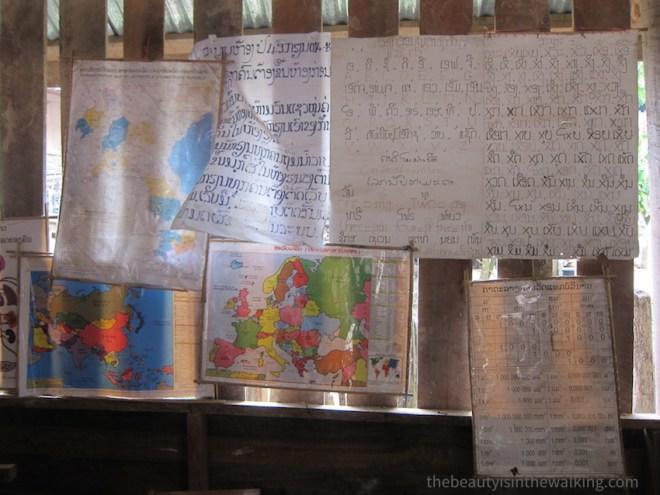 Ecole laotienne, village Luang Namtha, Laos