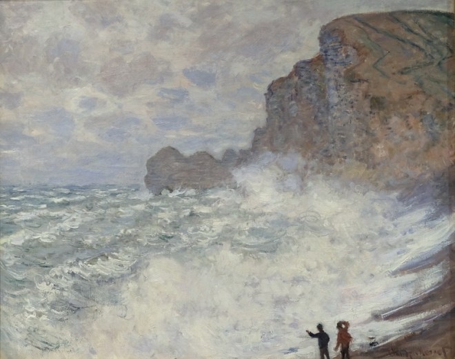 Rough weather at Étretat, 1883, National Gallery of Victoria.