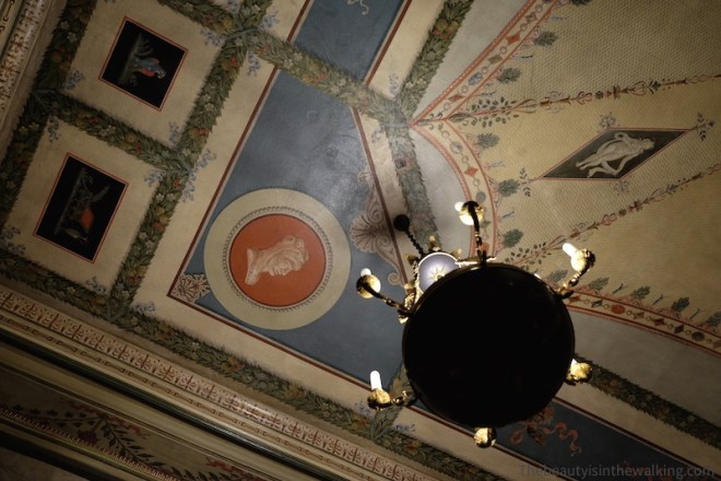 Painted ceiling, Erichsen's Mansion, Copenhagen