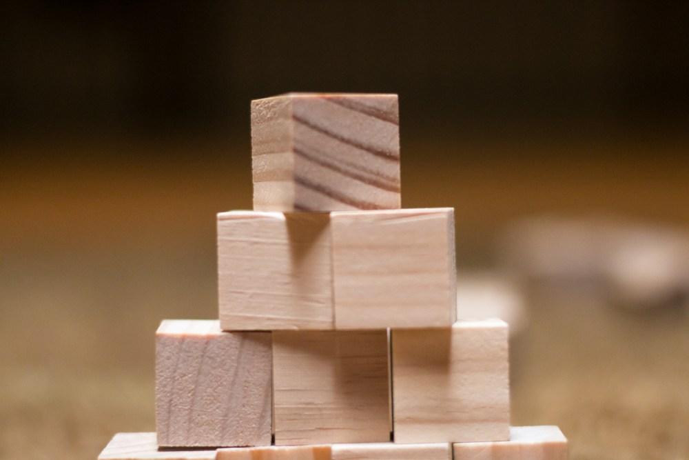wooden blocks for 100 chart