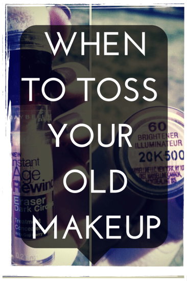 When to throw out your old makeup and beauty products.