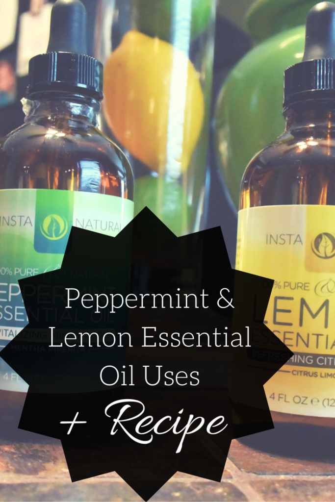 Peppermint & Lemon Essential Oil Beauty Uses + Recipe