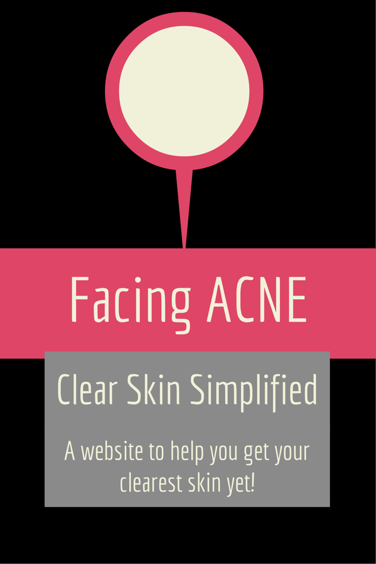 Facing Acne Clear Skin Simplified. A Website to help you get your clearest skin yet with a skin test and free downloadable e-book.