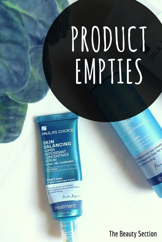 Product Empties: Paula's Choice