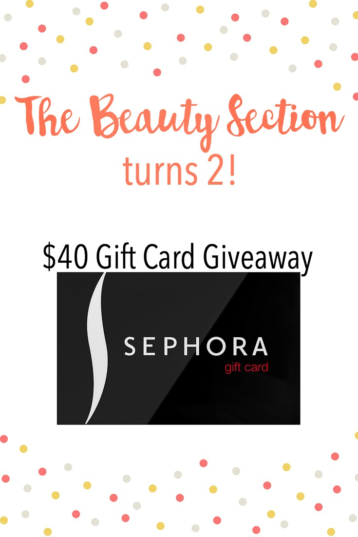 The Beauty Section Turns 2 | Blogiversary | Giveaway