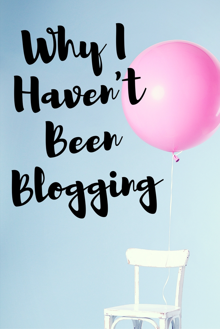 Why I Haven't Been Blogging