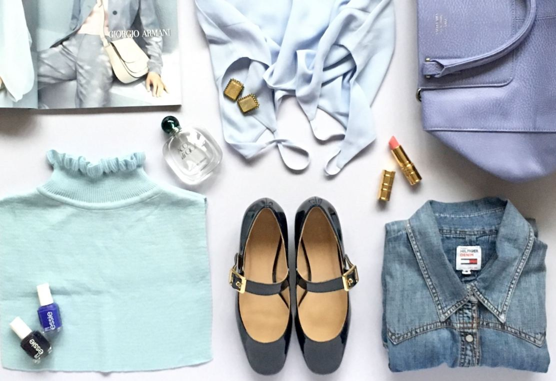 image hows some of my blue clothing and accessories favourites