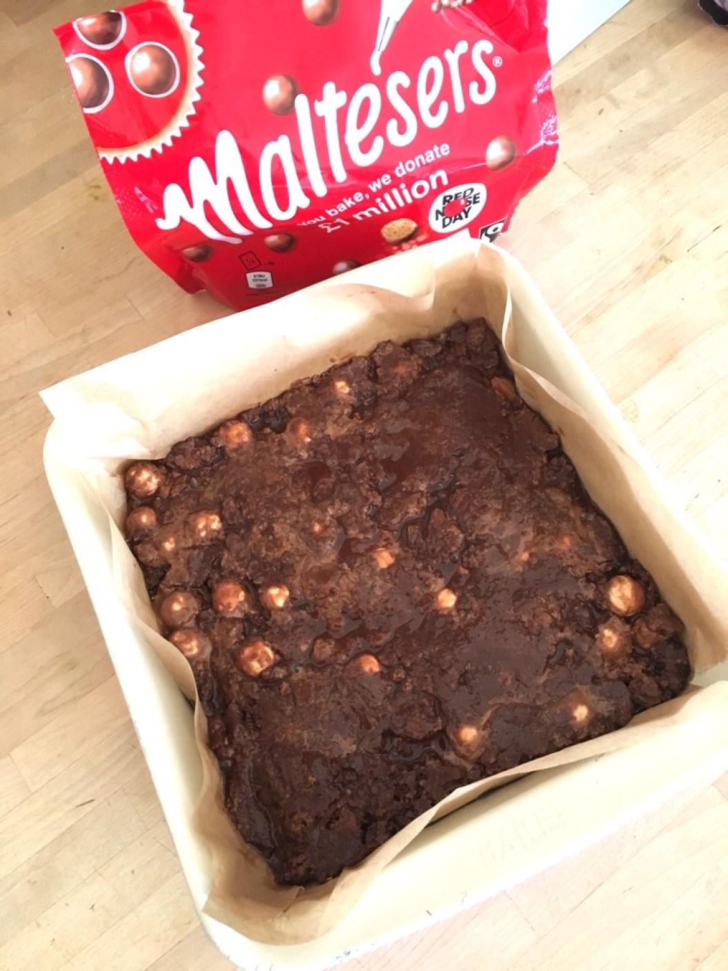 baking Malteser tiffin