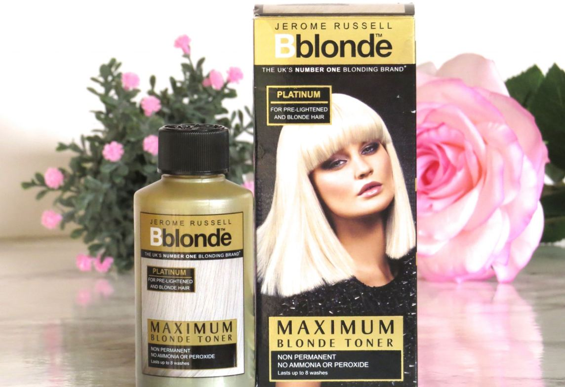 image shows the Jerome Russell hair products decoratively
