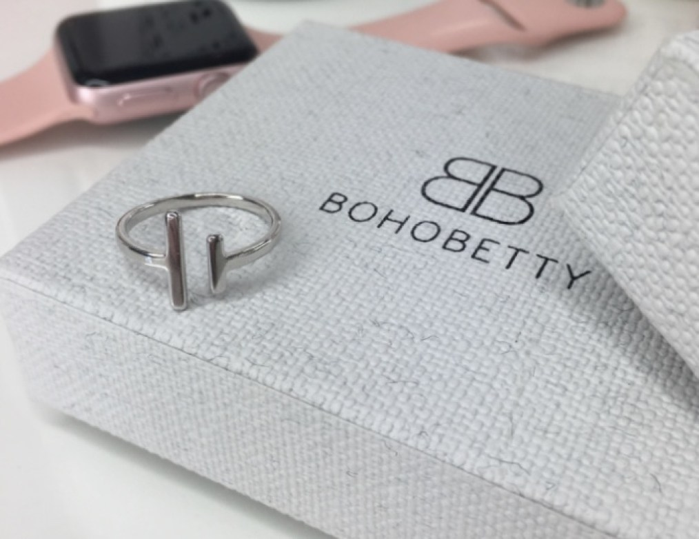 Boho Betty Delevigne minimal sterling silver ring