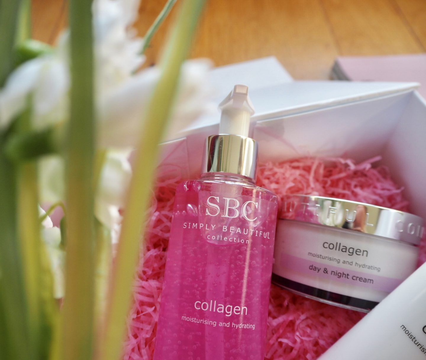 SBC collagen skincare products