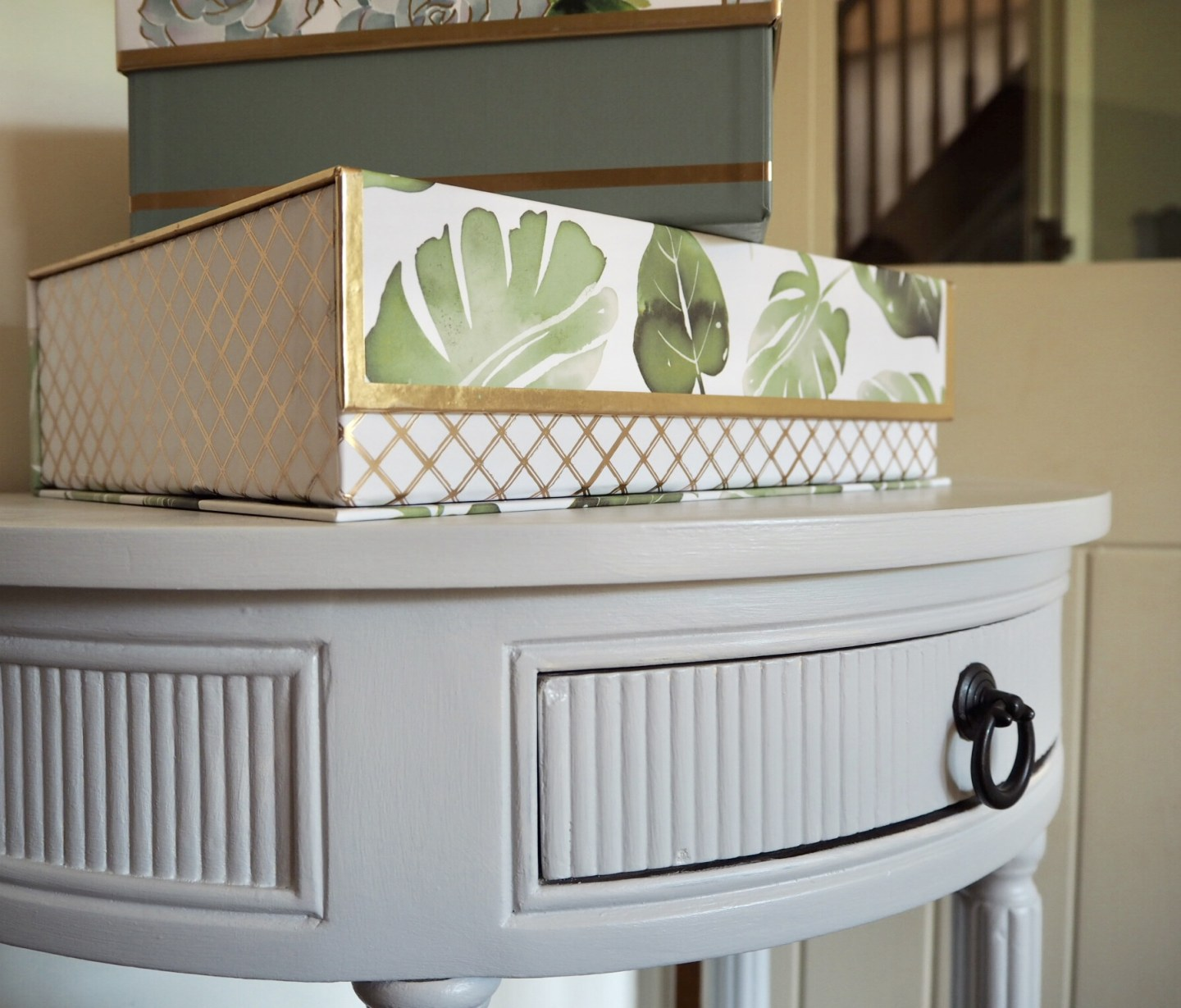 Homesense leaf print storage box. Spring home trend