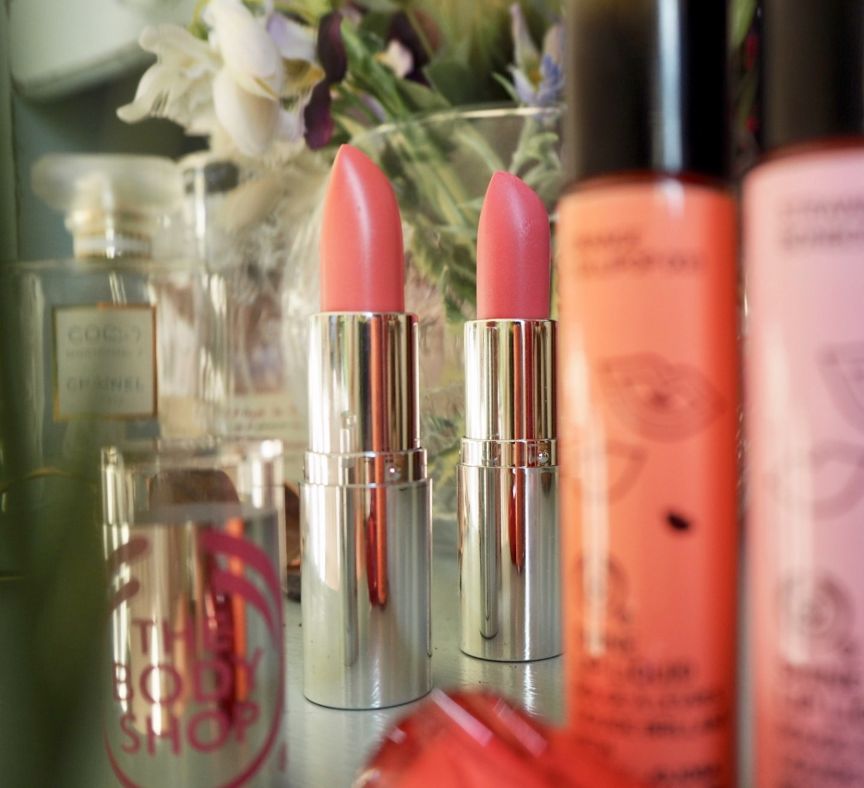 The body Shop lip Liquids and colour Crush Lipsticks