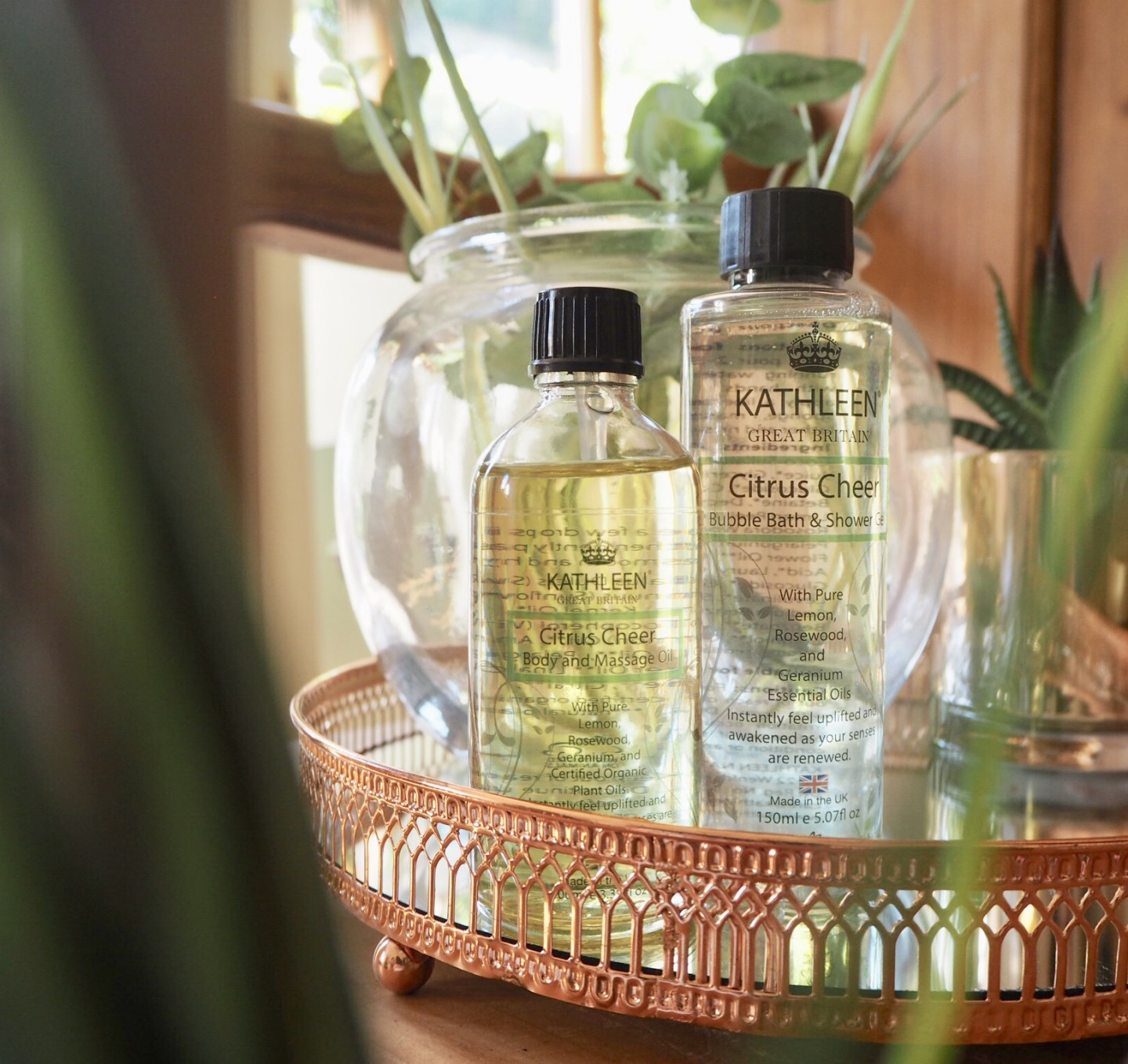 Kathleen naturals Citrus cheer body and shower products