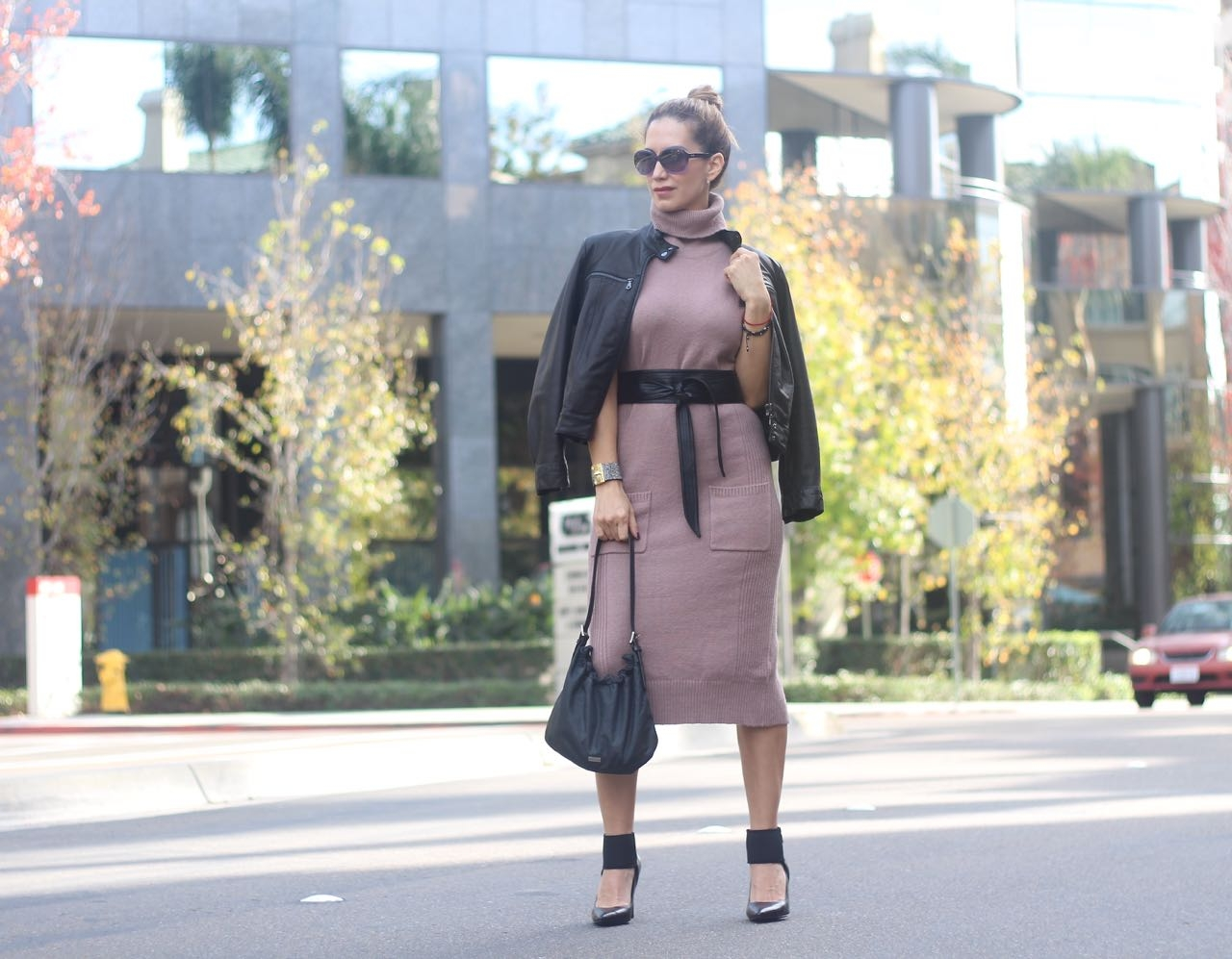 how tostyle a sweater dress