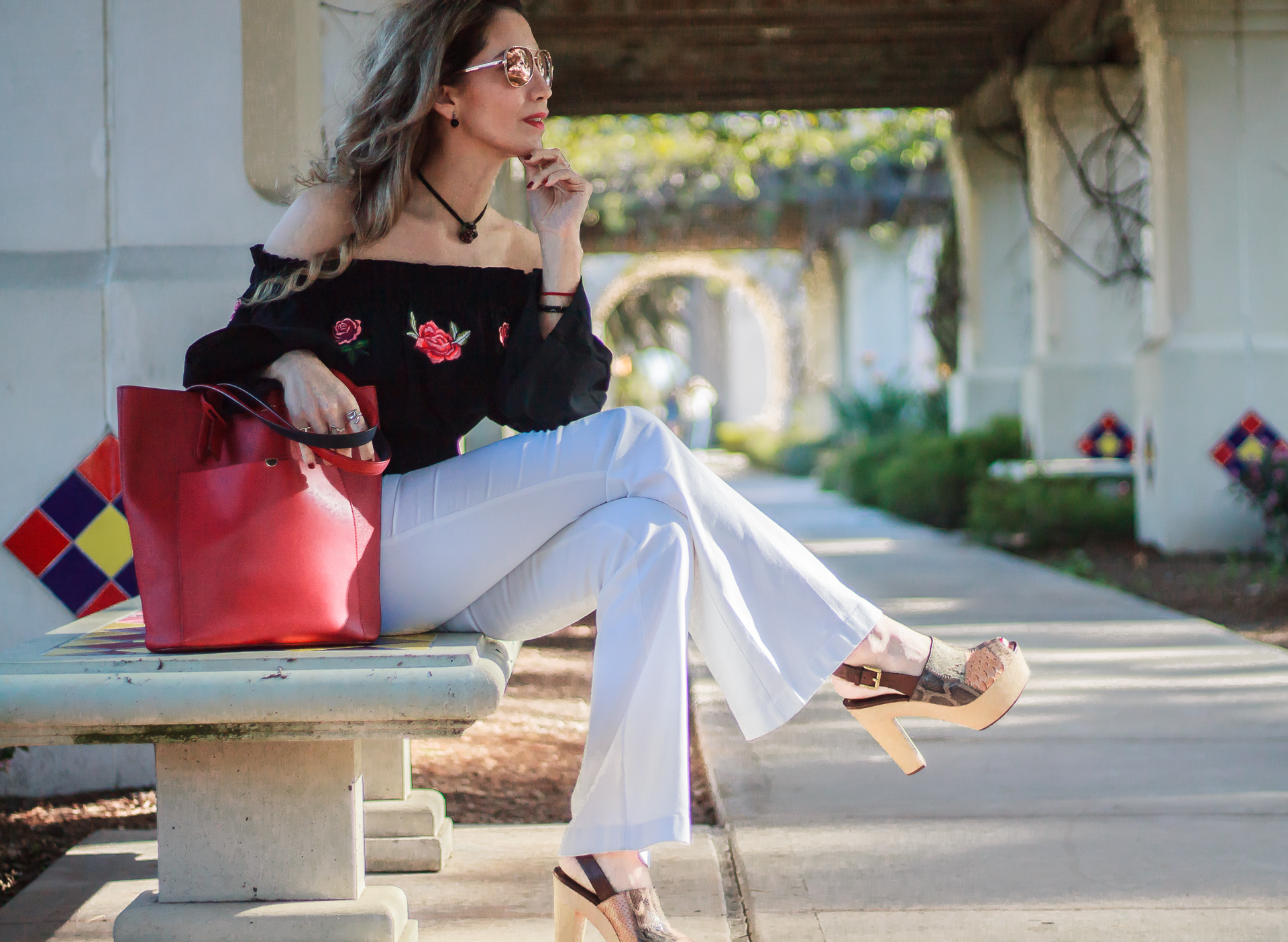ENHANCE YOUR LOOK WITH FEMININE PIECES // OFF THE SHOULDER TOP