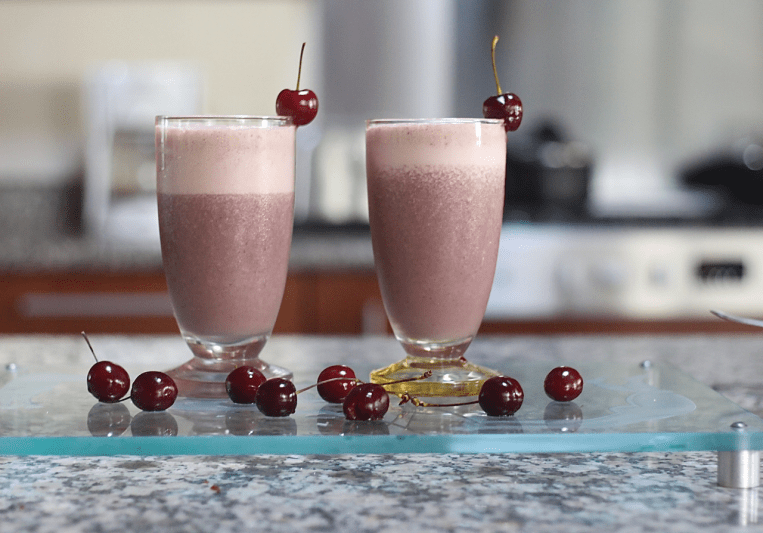 cherry and vanilla smoothie