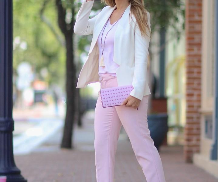 Suited for Spring // Pastel Pink & Structured Blazer