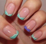 disney french manicure ariel inspired