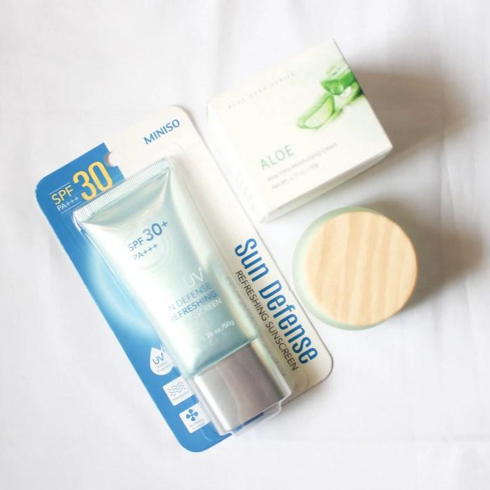 Miniso Sunscreen & Aloe Moisturizer