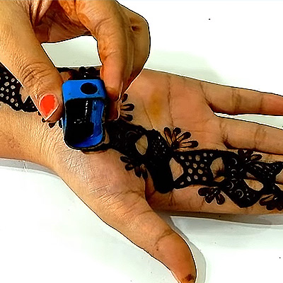 Mehendi Trick Drawing Mehendi Using Pencil Sharpner