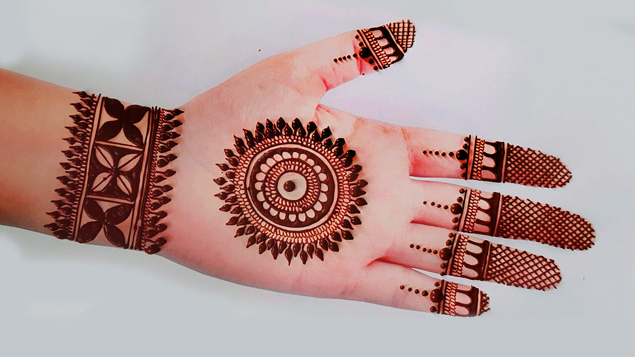 Finger tips mehndi design simple beautiful for girls. Front Hand Mehndi Design Easy Simple Mehndi Designs For Front Hands