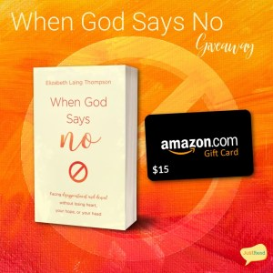 """When God Says """"No"""" – Takeover Tour & Giveaway"""