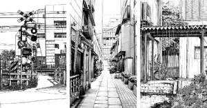 japanese sketches urban azuma drawing japan sketch kiyohiko paintings modern traditional manga artist spoon tamago
