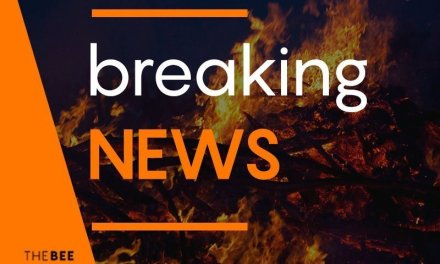 Brush fire off Boundary Peak in Mohave Valley