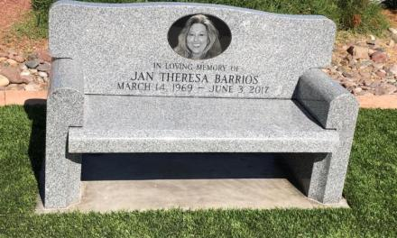 New Bench Installed Honors Jan Barrios