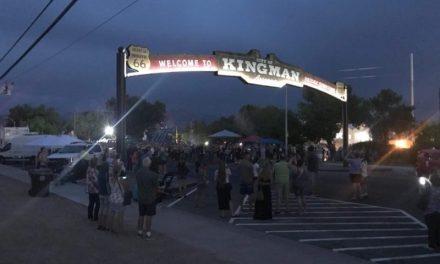 The Gateway Arch To Kingman Now Glowing