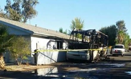 Fire Destroys RV; Pets Rescued From Nearby Home