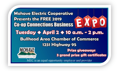 Mohave Electric's EXPO is coming! April 2, 2019