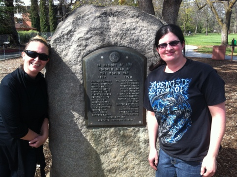 Dawn and I at the memorial for John Henry Lucas Jr. in Children's Park, Chico, CA.