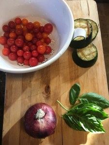 I love this salad because I get to use almost everything from my yarden!