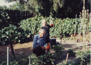 Papa and me spending time in his garden. One of my fondest memories.