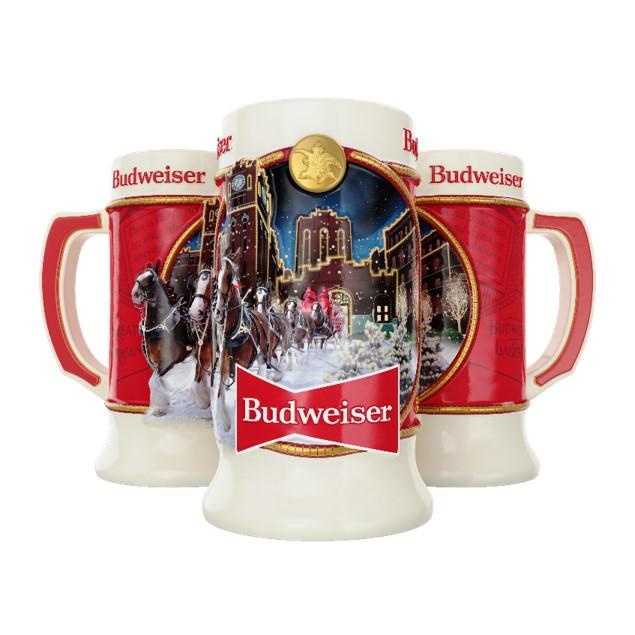 Budweiser Christmas Stein 2020 2020 Budweiser Annual Holiday Stein   The Beer Gear Store