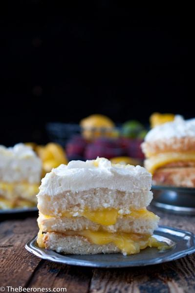 Lemon Beer Dream Cake via @TheBeeroness