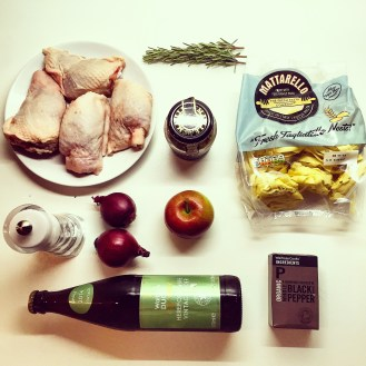 Pasta, Chicken with Cider & Rosemary Sauce - The Beginner's Cookbook recipe