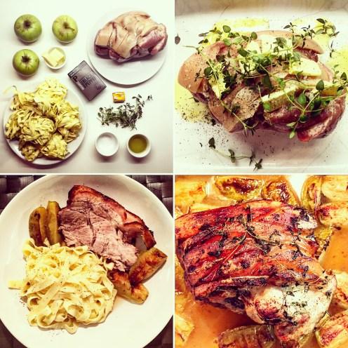 Pork Roast with Apple & Cider Sauce - The Beginner's Cookbook recipe