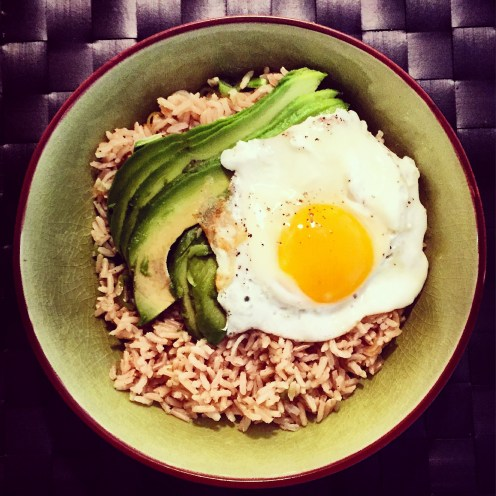 Brown Rice Bowl with Avocado & Fried Egg - The Beginner's Cookbook Recipe