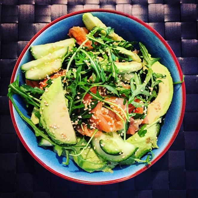 Smoked Salmon, Cucumber and Avocado Salad - The Beginner's Cookbook Recipe