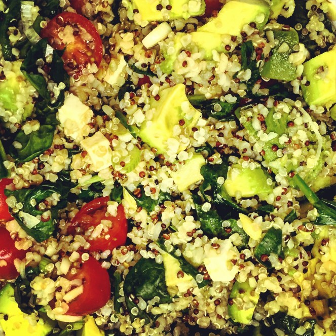 Quinoa Mixed Vegetable Salad with Feta: The Beginner's Cookbook Recipe
