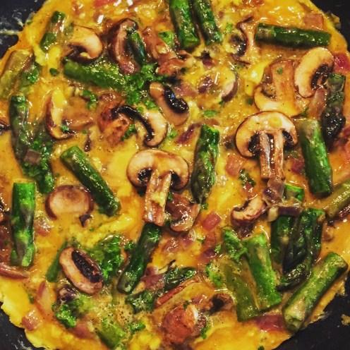 Mushroom & Asparagus Omelette: The Beginner's Cookbook recipe